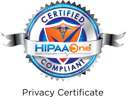 Hipaaone certified seal privacy